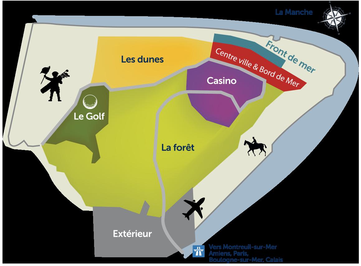 Rechercher sur notre carte du Touquet et de ses alentours